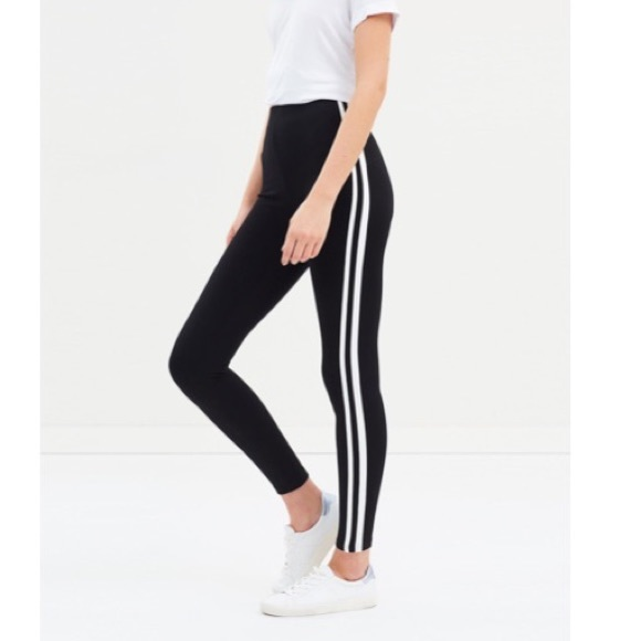Cotton On Pants Jumpsuits Dante Legging Black And White Striped Poshmark